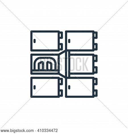 morgue icon isolated on white background from funeral collection. morgue icon thin line outline line