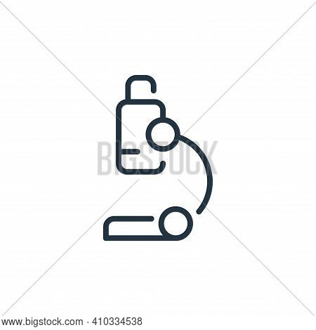 microscope icon isolated on white background from virus transmission collection. microscope icon thi