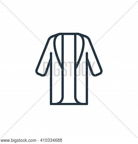 long coat icon isolated on white background from wardrobe collection. long coat icon thin line outli