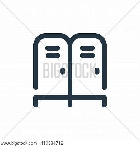 locker icon isolated on white background from school collection. locker icon thin line outline linea
