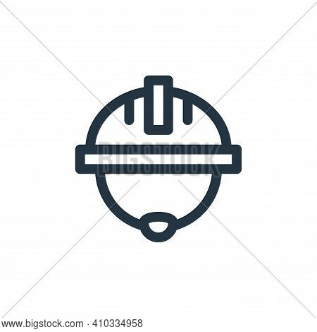 helmet icon isolated on white background from labour day collection. helmet icon thin line outline l