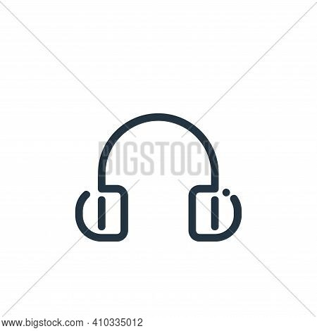 headphone icon isolated on white background from ricon collection. headphone icon thin line outline