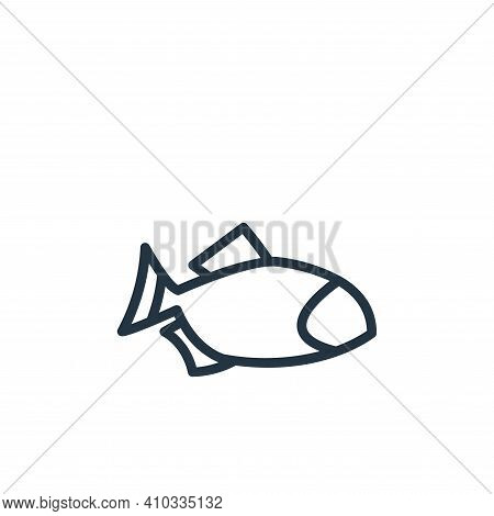 fish icon isolated on white background from food collection. fish icon thin line outline linear fish