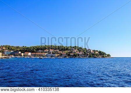 Hvar, Croatia - October 2, 2011: View Of Hvar Island On A Sunny Day