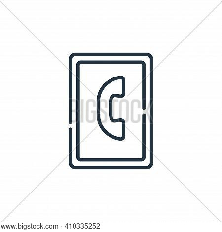 emergency call icon isolated on white background from signals and prohibitions collection. emergency