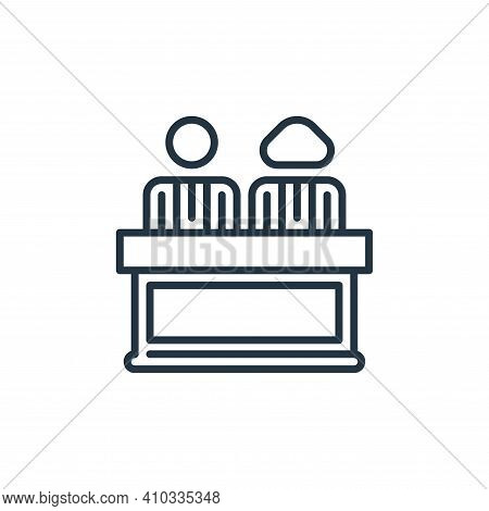 director icon isolated on white background from management collection. director icon thin line outli