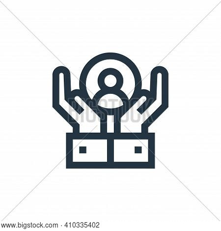 customer care icon isolated on white background from advertisement collection. customer care icon th