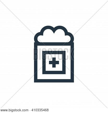Cotton icon isolated on white background from pharmacy collection. Cotton icon thin line outline lin