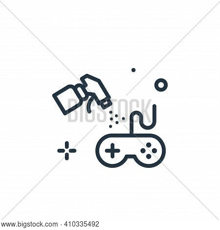 console icon isolated on white background from hygiene collection. console icon thin line outline li