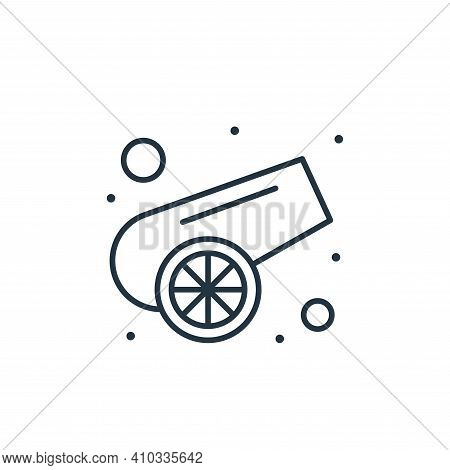 canon icon isolated on white background from islam and ramadan collection. canon icon thin line outl
