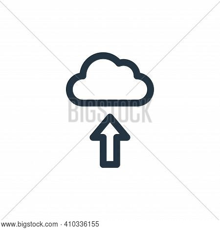 upload icon isolated on white background from communication and media collection. upload icon thin l