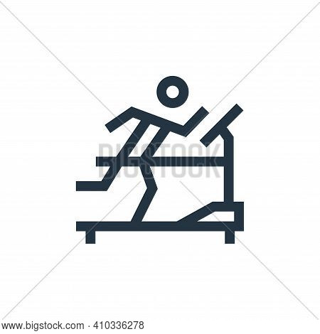 treadmill icon isolated on white background from hobbies collection. treadmill icon thin line outlin