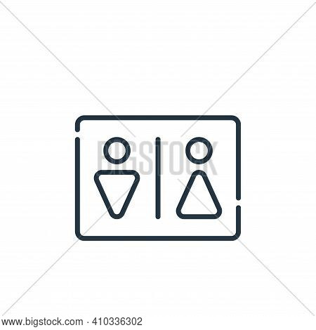 toilet icon isolated on white background from signals and prohibitions collection. toilet icon thin