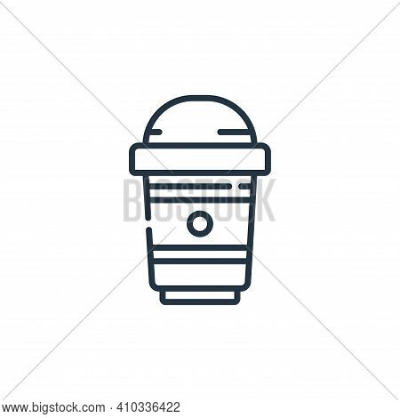 take away icon isolated on white background from plastic products collection. take away icon thin li