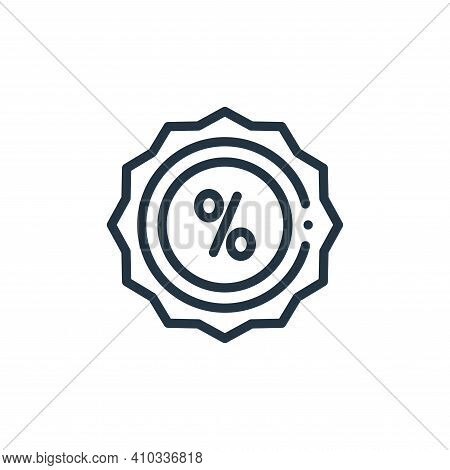 sale icon isolated on white background from online shopping collection. sale icon thin line outline