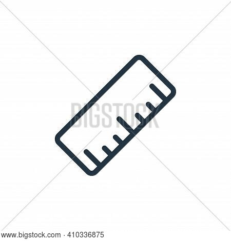 ruler icon isolated on white background from work office supply collection. ruler icon thin line out