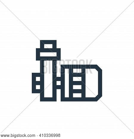 pump icon isolated on white background from manufacturing collection. pump icon thin line outline li
