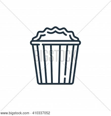 popcorn icon isolated on white background from fame collection. popcorn icon thin line outline linea