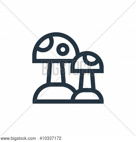 mushroom icon isolated on white background from hippies collection. mushroom icon thin line outline