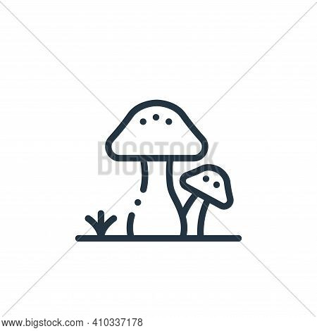 mushroom icon isolated on white background from in the village collection. mushroom icon thin line o