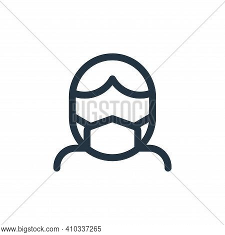 medical mask icon isolated on white background from health collection. medical mask icon thin line o