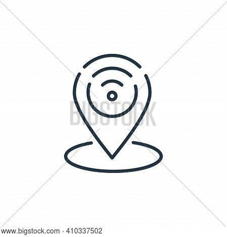 gps icon isolated on white background from internet of things collection. gps icon thin line outline