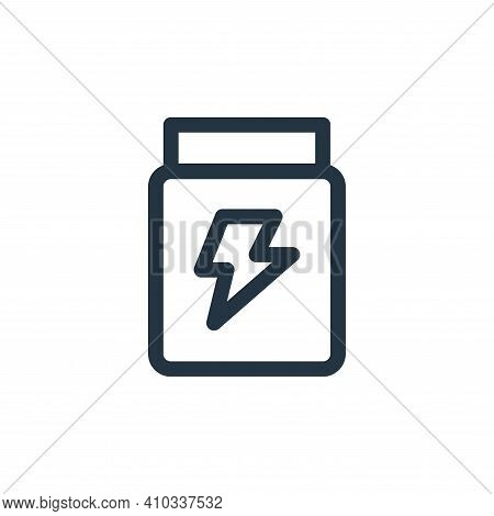 glucose icon isolated on white background from medicine collection. glucose icon thin line outline l