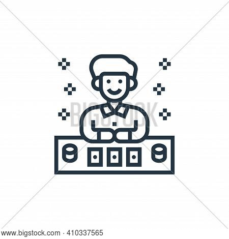 gambler icon isolated on white background from casino collection. gambler icon thin line outline lin