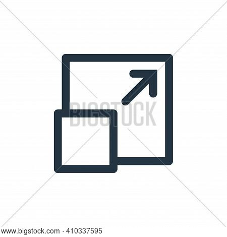 full screen icon isolated on white background from multimedia collection. full screen icon thin line