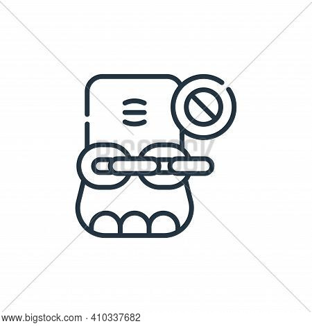elephant icon isolated on white background from animal welfare collection. elephant icon thin line o