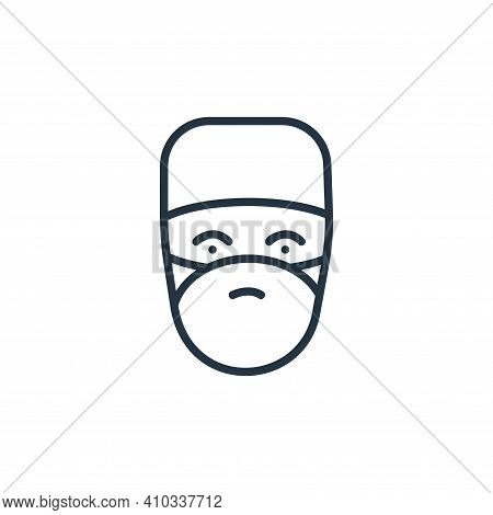 doctor icon isolated on white background from covid collection. doctor icon thin line outline linear