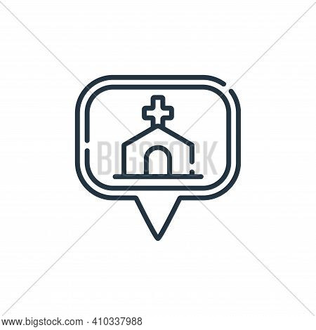 church icon isolated on white background from navigation and maps collection. church icon thin line