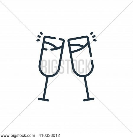 cheers icon isolated on white background from celebration collection. cheers icon thin line outline