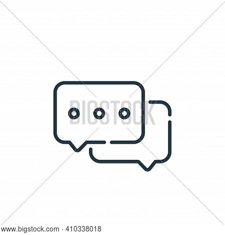 chat box icon isolated on white background from social media collection. chat box icon thin line out