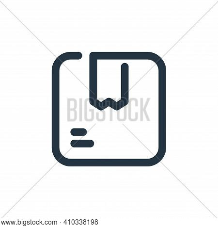 box icon isolated on white background from shopping collection. box icon thin line outline linear bo