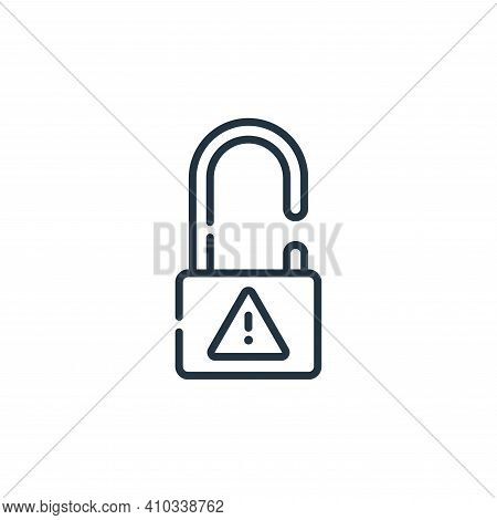 unlock icon isolated on white background from hacker collection. unlock icon thin line outline linea