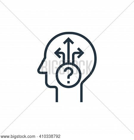 uncertainty icon isolated on white background from business risks collection. uncertainty icon thin