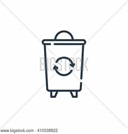 trash bin icon isolated on white background from hygiene routine collection. trash bin icon thin lin