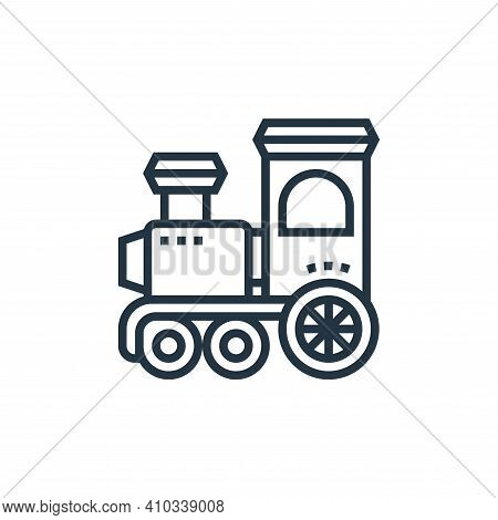 steam locomotive icon isolated on white background from railway collection. steam locomotive icon th
