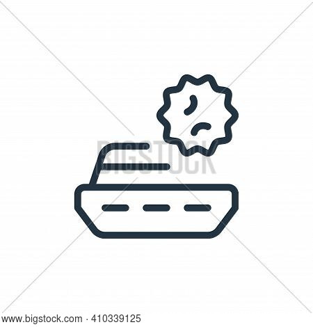 ship icon isolated on white background from coronavirus collection. ship icon thin line outline line