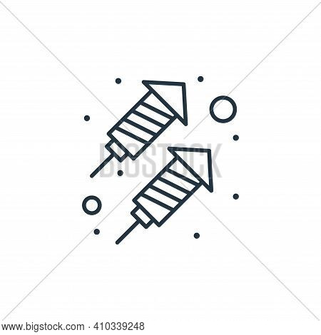 rocket icon isolated on white background from brazilian carnival collection. rocket icon thin line o