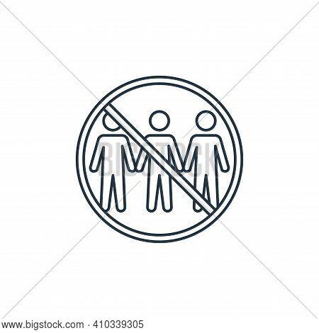 quarantine icon isolated on white background from coronavirus covid collection. quarantine icon thin