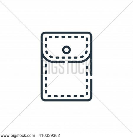 pocket icon isolated on white background from sewing collection. pocket icon thin line outline linea