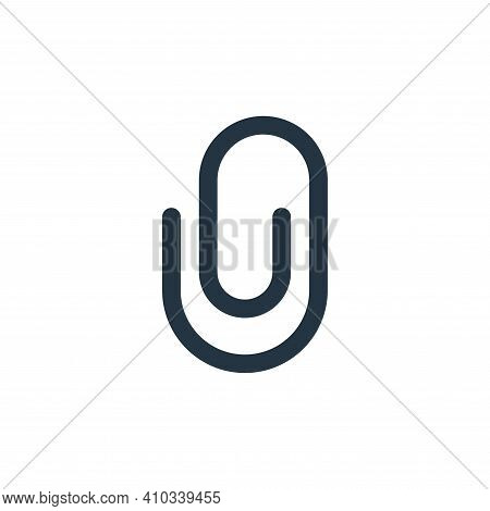 paper clip icon isolated on white background from user interface collection. paper clip icon thin li