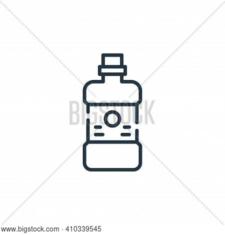 mouthwash icon isolated on white background from cleaning collection. mouthwash icon thin line outli