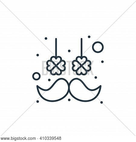 moustache icon isolated on white background from saint patrick collection. moustache icon thin line