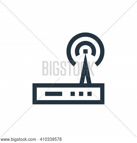 modem icon isolated on white background from electronics collection. modem icon thin line outline li