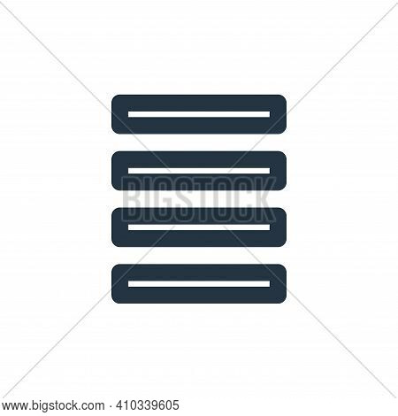 menu icon isolated on white background from marketing business collection. menu icon thin line outli