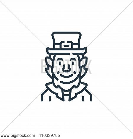 leprechaun icon isolated on white background from fantastic characters collection. leprechaun icon t