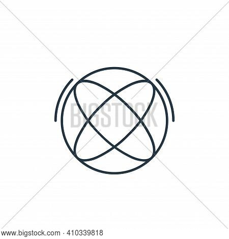 internet icon isolated on white background from network and database collection. internet icon thin
